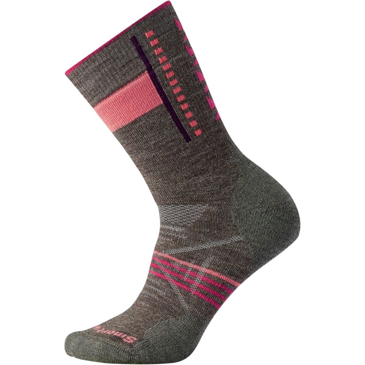 Smartwool Women's PhD Outdoor Light Pattern Crew Socks (Taupe) Small SW000768-236-S