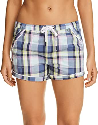 Psycho Bunny Women's Woven Lounge Shorts with Two Front Pockets