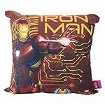 Almofada Fibra Veludo 40x40cm Iron Man Símbolo Marvel Vermelho