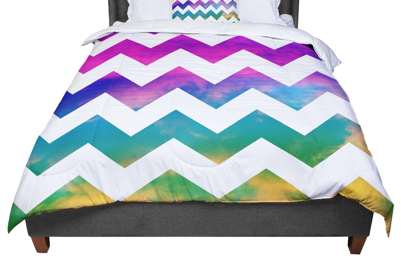 KESS InHouse Beth Engel Lucky Chevron Twin Comforter 68 X 88