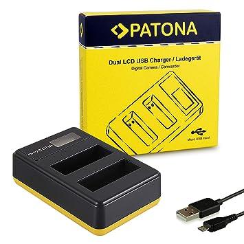 PATONA Cargador de batería Doble LCD USB para EN-EL14 ...
