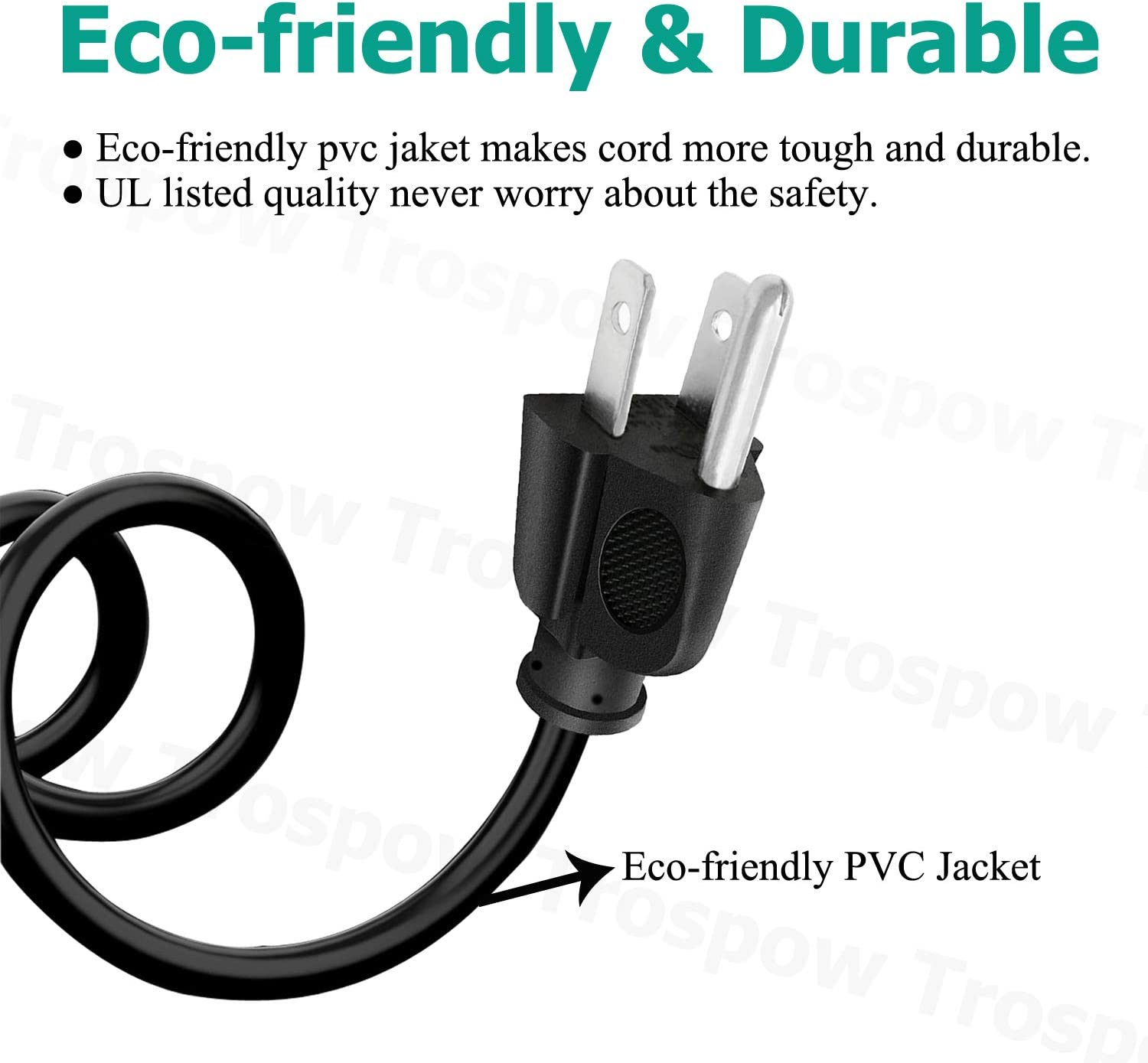 UL Listed 8.2ft 3 Prong Power Cord for HP Laserjet Pro M29w M130nw M203dw M426fdw M15a M454dw M428fdw M281fdw Printer,Behringer X AIR XR18 XR12 XR16 Digital Mixer Power Cord AC Cable Replacement