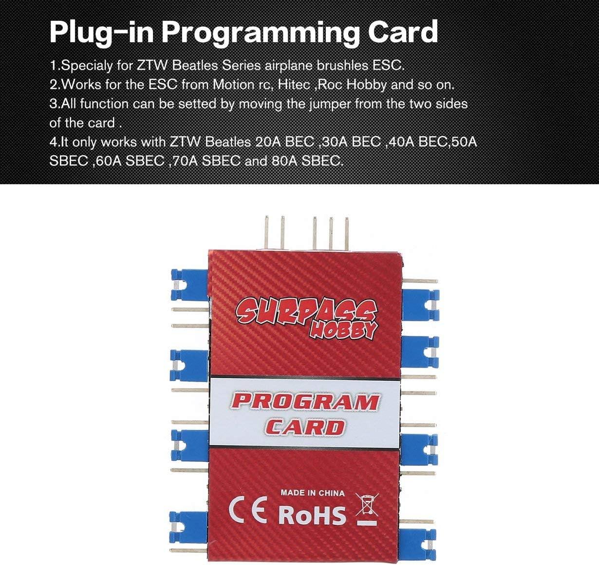 Comomingo Tarjeta de programación del Programador Air ESC para FMS RocHobby ESC RC Boat Accessories: Amazon.es: Juguetes y juegos