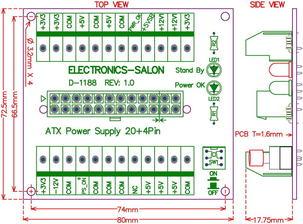 Atx Power Supply Pinout Turn On - Dolgular.com