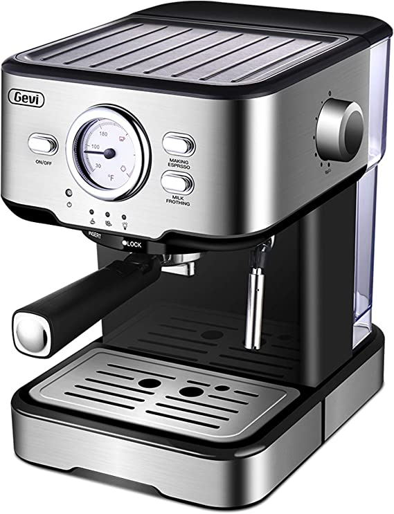 Espresso Machine Cappuccino Machine & Latte Machine with 15 Bar Powerful Pump Steam Espresso Maker For Home Barista