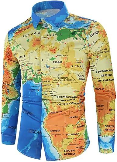 SELX Men Slim Fit Long Sleeve Fashion Luxury Design Print Dress Shirt