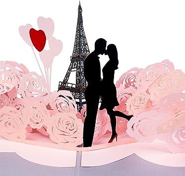 EIFFEL TOWER-PARIS pop-up greeting card beautiful /& unique gift//decor//art
