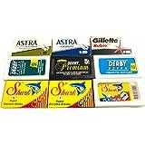 Astra-Derby-Shark-Rubie 50 Quality Double Edge Razor Blades Sampler (9 different brands)