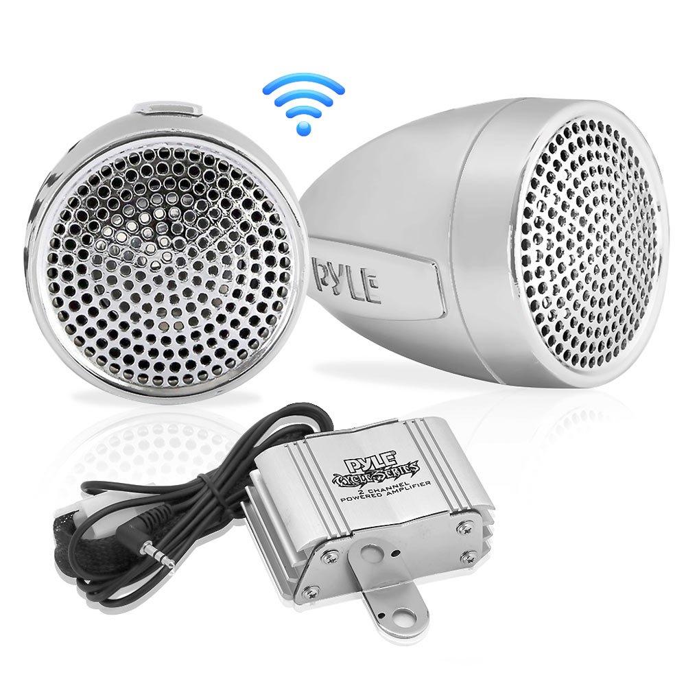 Amazon.com: Pyle 300 Watt Weatherproof Motorcycle Speaker and ...