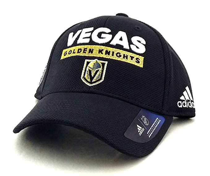 ede72f02cbd Amazon.com   adidas Vegas Golden Knights 2018 NHL Stanley Cup Playoffs  Flexfit Slouch Fitted Hat   Sports   Outdoors