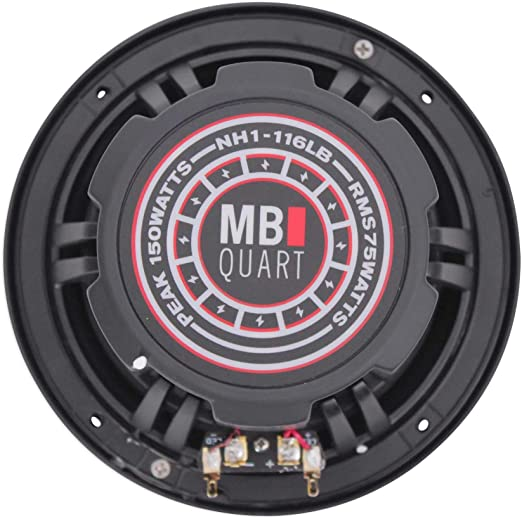 Illuminated Black MB Quart NH1-116LB Two Way 6.5 inch Compression Horn Speaker with Poly Cone Packaged in Pairs
