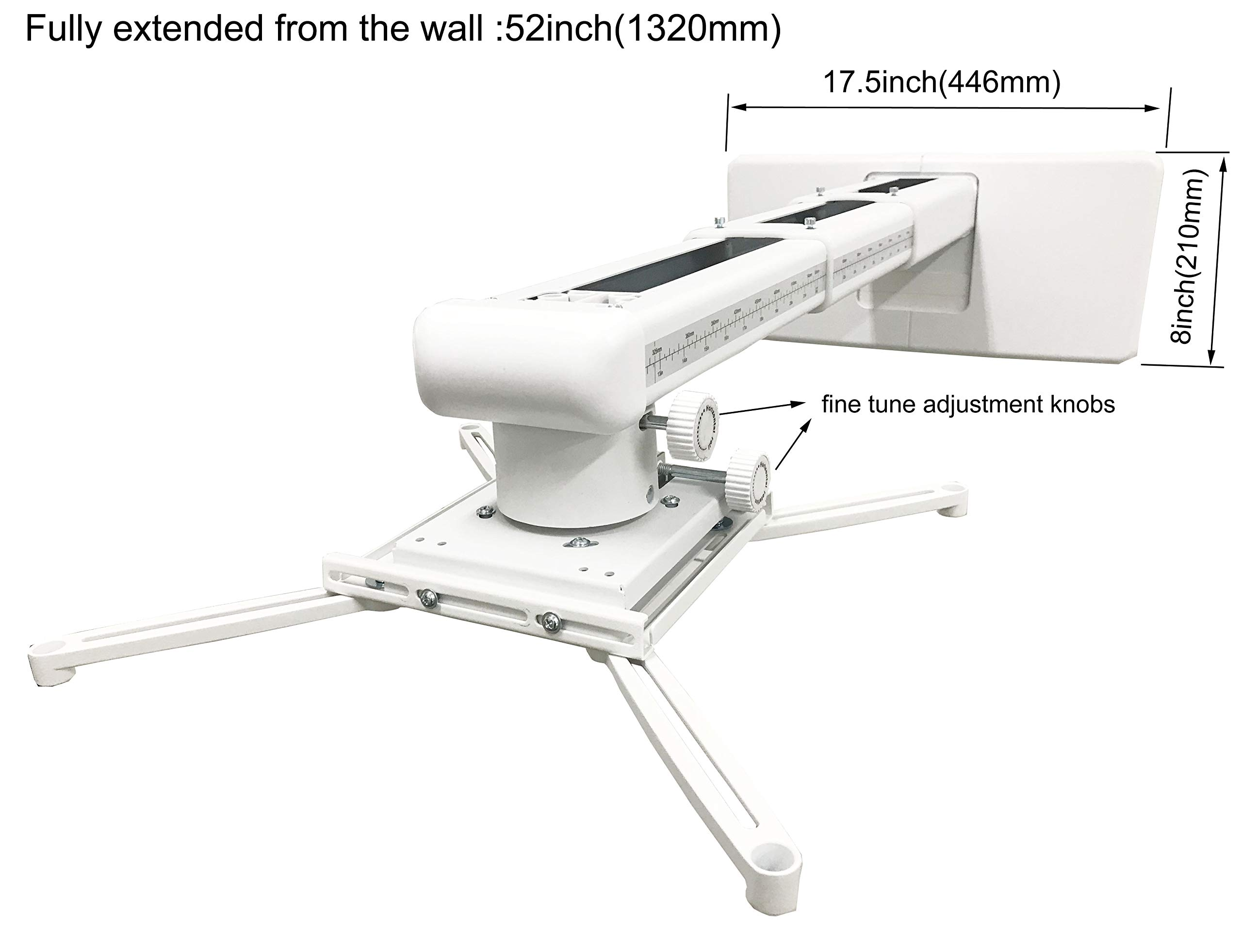Viewtech Universal Short Throw Projector Wall Mount Fully Adjustable: 22''-52'' by Viewtech