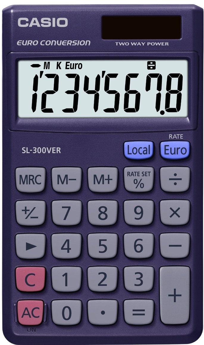 CASIO SL-300VER calcolatrice tascabile - Display 8 cifre, con euroconvertitore