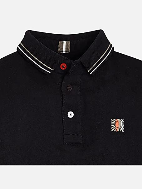 Mayoral, Polo Manga Larga para niño - 7106, Negro: Amazon.es: Ropa ...