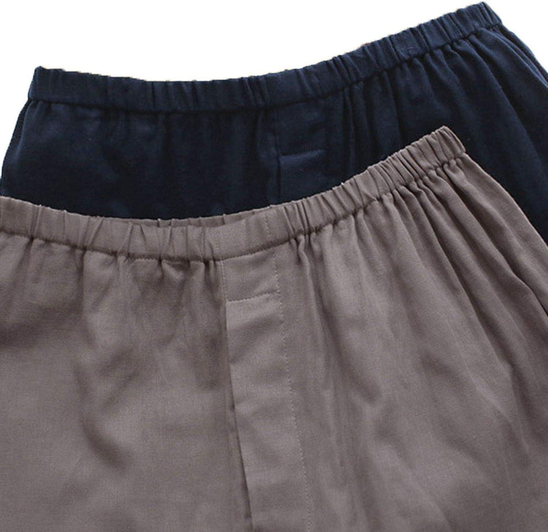 Men Kimono Set Homewear Cotton Tops and Pants Set Loose Casual Comfy Men Sleepwear Set L-5Xl