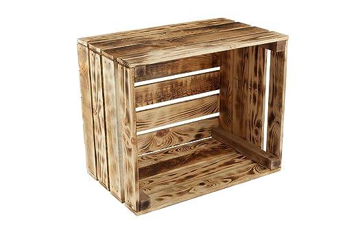 GrandBox Caja de Madera flameada Flame-Box Caja de Vino Caja de ...