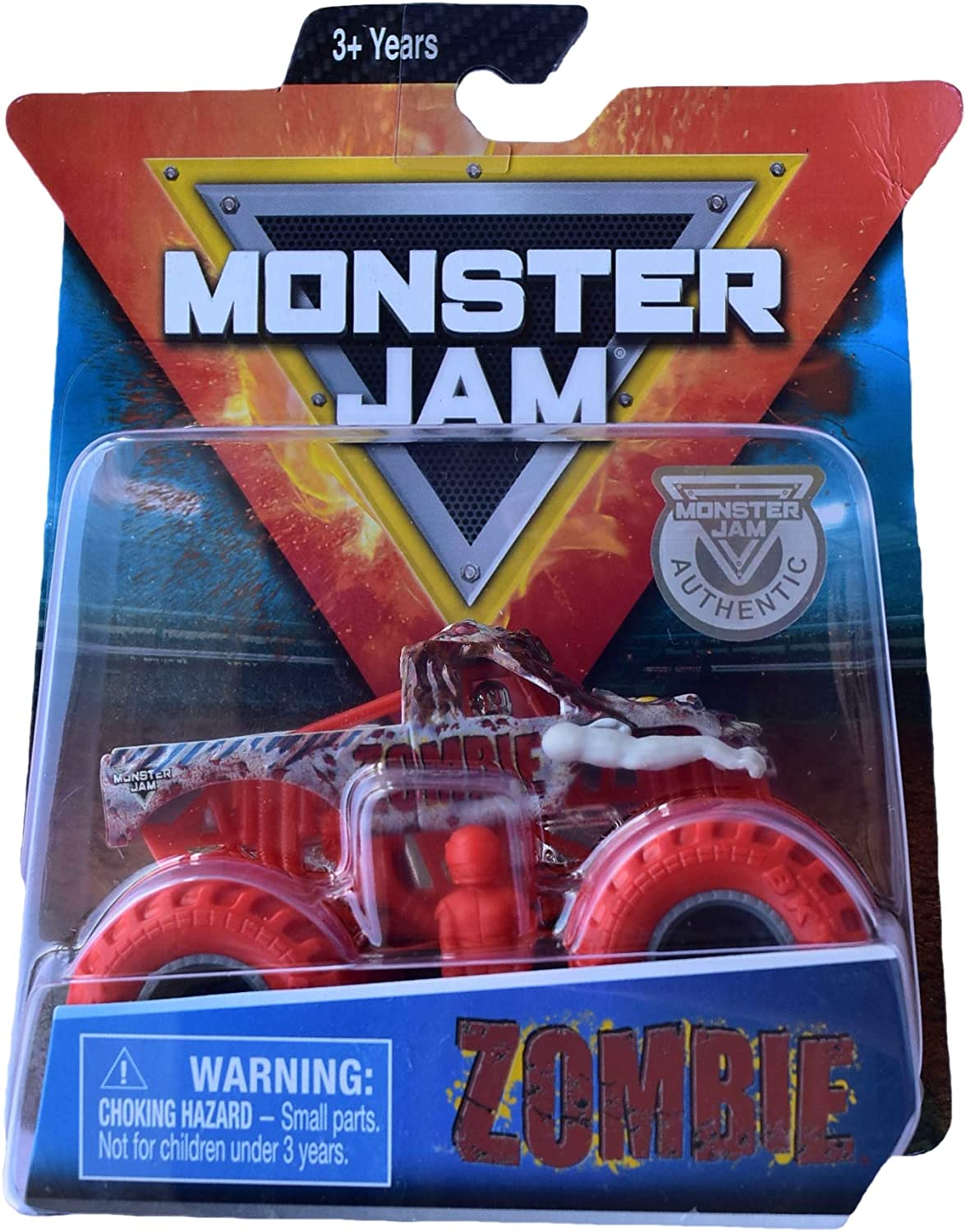 Amazon Com Monster Jam Hot Wheels 1 64 Scale Zombie With Red Wheels Toys Games