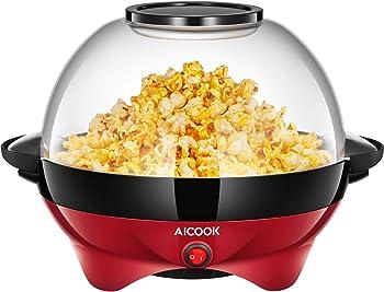 AICOOK Electric Hot Oil Popcorn Popper Machine