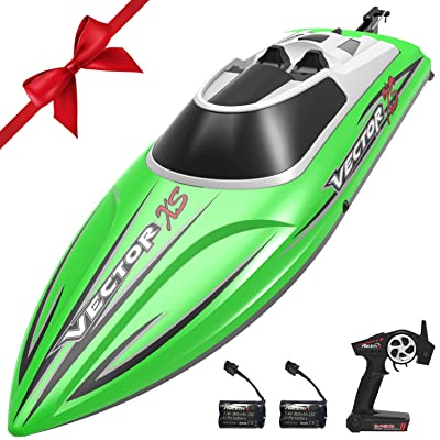 VOLANTEXRC Remote Control Boat RC Boat for Pool and Lakes, 20MPH High Speed RC Boat VectorXS with Self-righting Feature, Reverse Function for Kids or Adults (795-4 Green): Toys & Games
