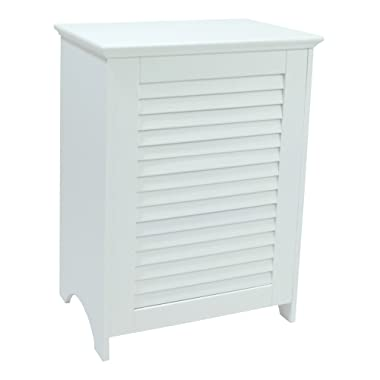 Redmon 5208 KD White Louvered Hamper
