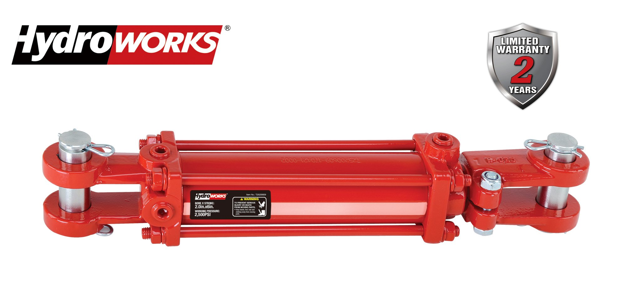 HYDROWORKS Double Acting Tie Rod Hydraulic Cylinder, 2500 PSI (3'' Bore/ 12'' Stroke)