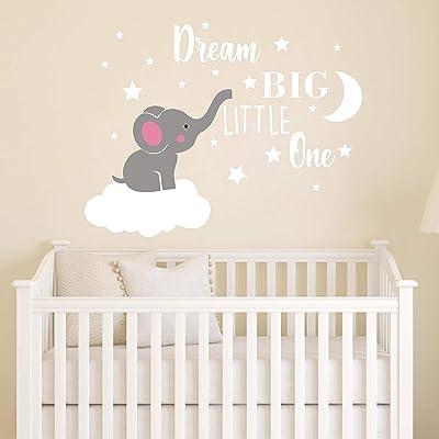 6pcs Rainbow Cloud Wall Stickers Kid/'s Bedroom Nursery Decoration Decal Sticker