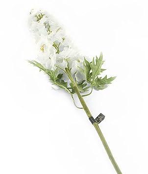 Floral elegance artificial 105cm single stem white candle larkspur floral elegance artificial 105cm single stem white candle larkspur flowers x 12 mightylinksfo