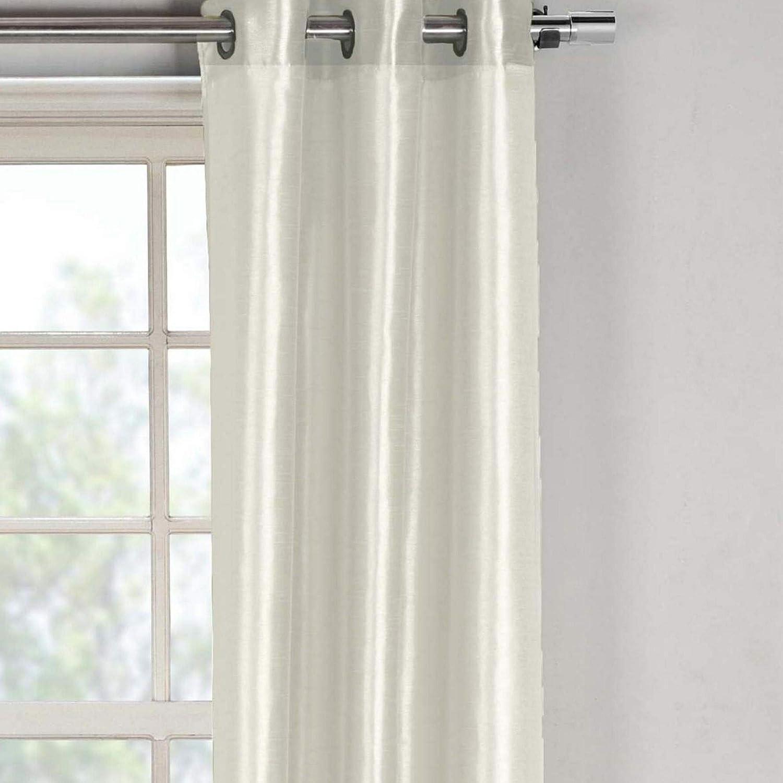 Duck River Textiles Bali Faux Silk Grommet Top Window Curtain 2 Panel Drape 38W x 84L Champagne