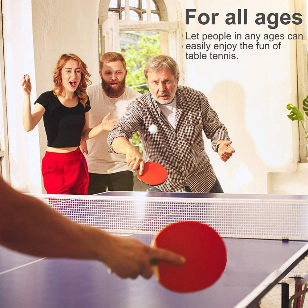 ACEBON Sport Ping Pong Paddle Set with Retractable Table Tennis Net, Two Premium Paddles, Three Balls, and Storage Bag to Go Anywhere (Red) : Pet Supplies