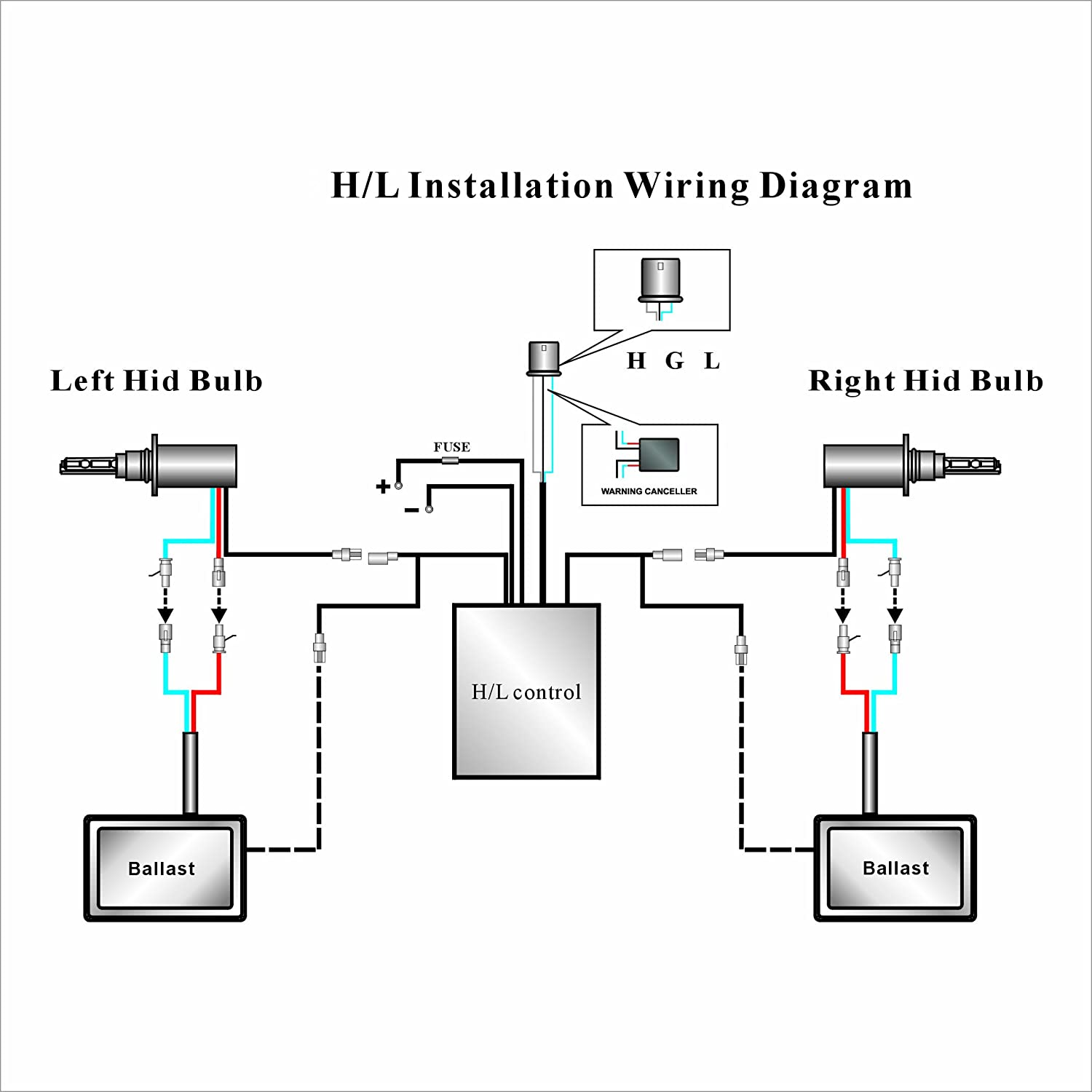 xenon hid headlight wiring diagram