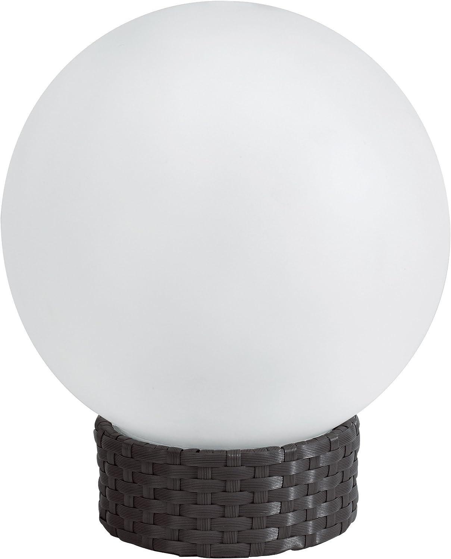 Britta Products Solar Garden Globe LED Centerpiece Table Light, Rattan Base