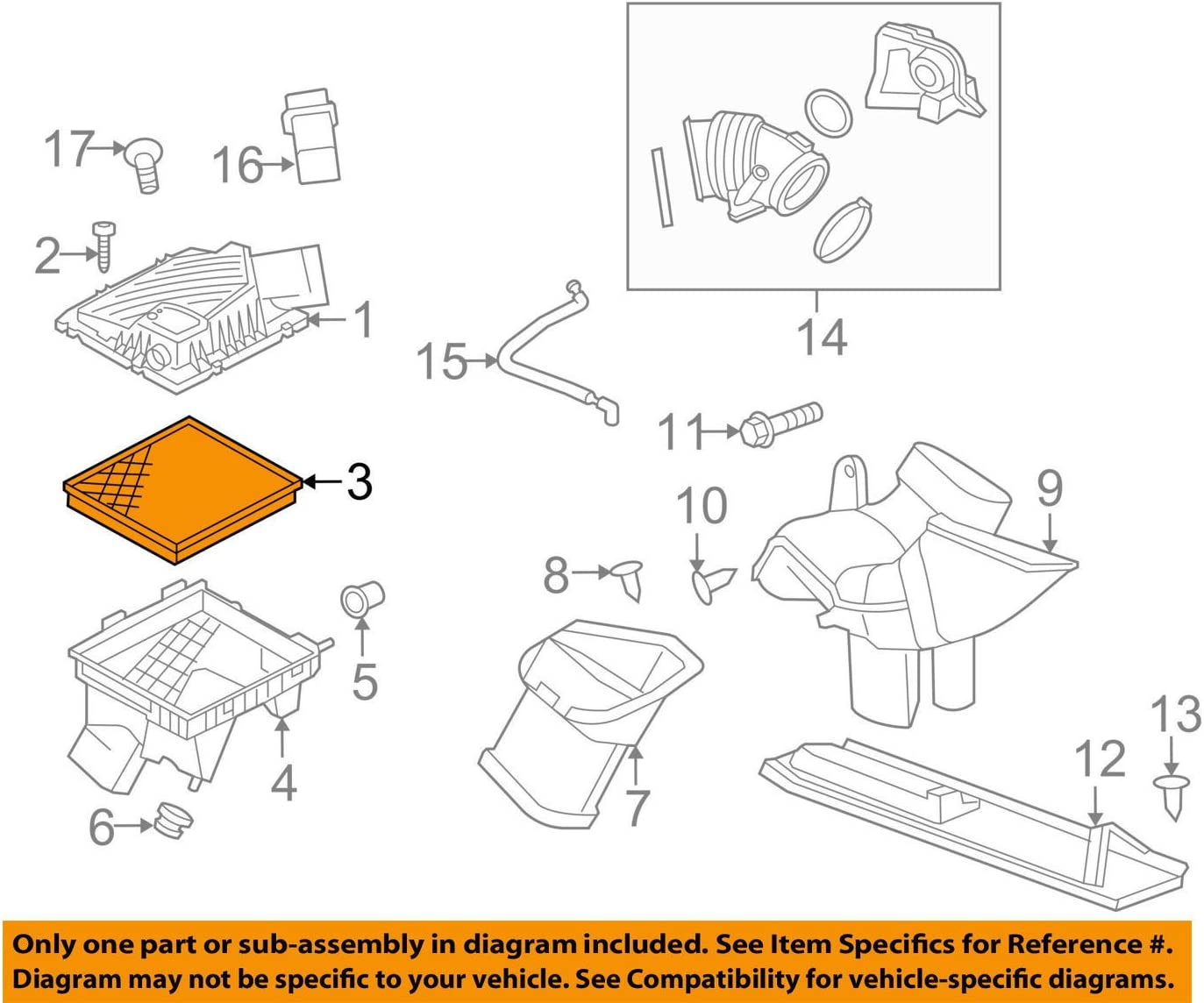 55560894 New Engine Air Filter For Impala Malibu Saab 9-5 Regal LaCrosse Regal