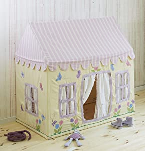 Win Green Play Tent Small Butterfly Cottage Playhouse