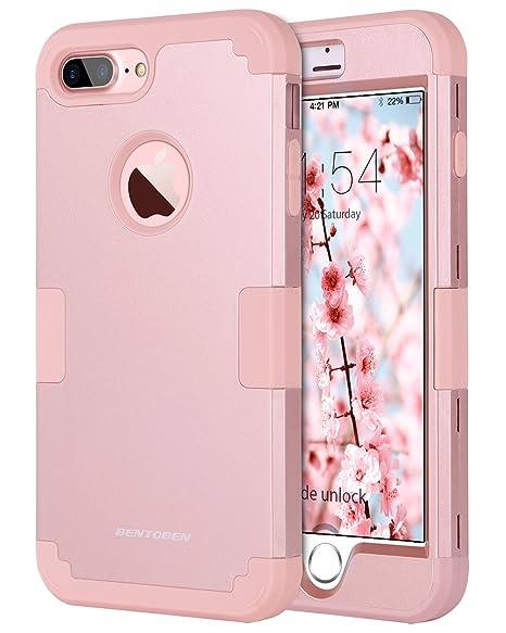 negozio online c6c1b 84d93 BENTOBEN Custodia per iPhone 8 Plus, iPhone 7 Plus / 8 Plus Cover Antiurto,  Sottile 3 in 1 Antiurto PC Morbida TPU Antigraffi Bumper Robusta Cover per  ...