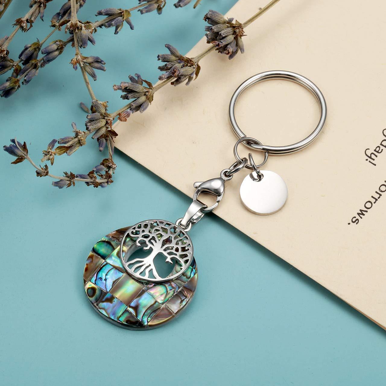 Amazon.com: CrystalTears - Llavero de plata con árbol de la ...
