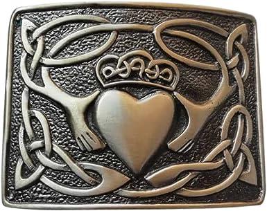 Belt Buckle Highland Kilt Claddagh Pattern Antique Finish //Scottish Kilt Buckles