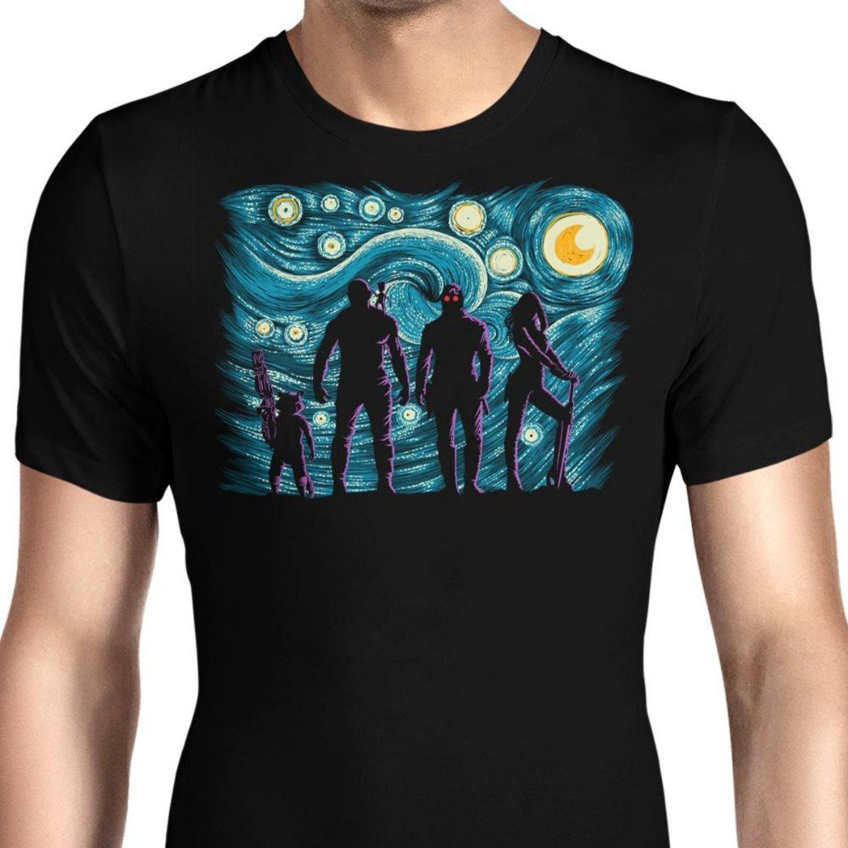 HONGRONG Mens Starry Galaxy Unique Design Tshirt Fashion Tee