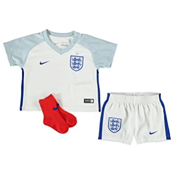 4488172bd059 Nike England Home Mini Kit 2016 Baby White Football Soccer Top Shorts Socks  18-24