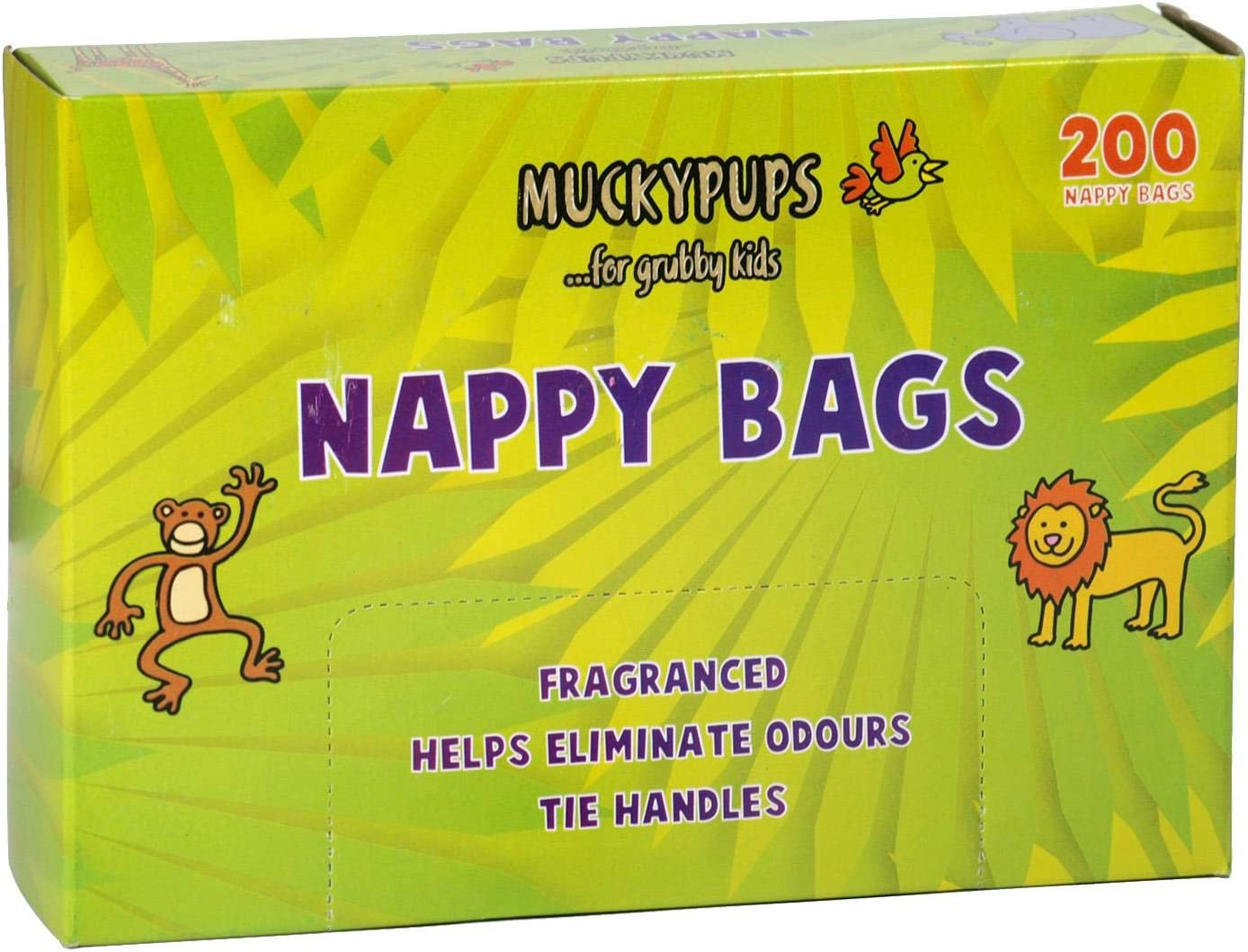 Muckypups Disposable Nappy Bags Fragranced /& Tie Handles 200 x Mucky Pups Nappy Sacks per Pack