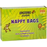 Muckypups Disposable Nappy Bags Fragranced & Tie Handles - 200 x Mucky Pups Nappy Sacks per Pack, 4 Packs (800 Nappy Bags)