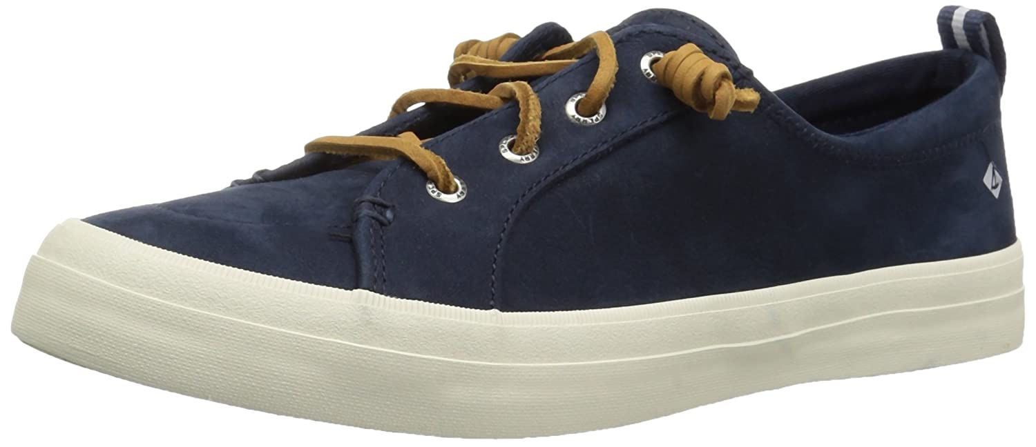 Sperry Top-Sider Women's Crest Vibe Washable Leather Sneaker B077P5JK3W 8.5 M US Navy