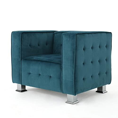 Christopher Knight Home Boden Tufted Modern Deco New Velvet Arm Chair