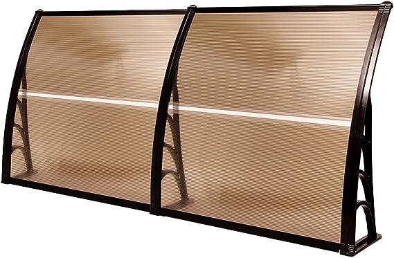 MCombo - Toldo para puerta de exterior, de policarbonato, para puerta delantera, lluvia, sol, jardín, toldo, hoja hueca, 101, 6 x 203 cm: Amazon.es: Jardín