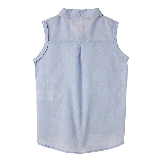 Amazon.com: OFFCORSS Big Girls Button Down Sleeveless Dress Shirt | Camisa Manga Larga Niña: Clothing