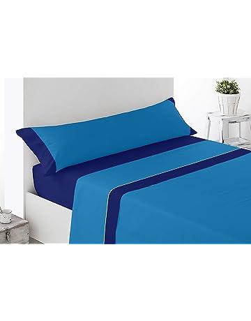 Cabetex Home - Juego de sábanas Lisas - Colores Combinados - 3 Piezas - Microfibra Transpirable