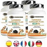 Turmeric Curcuma 1000 La curcumina + Jengibre + piperina - quemador de grasa | alta dosis de ...