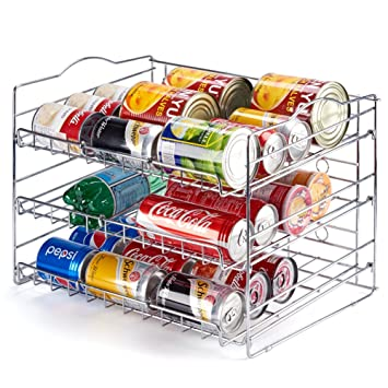 Can Rack Organizer, EZOWare 3 Tier Canned Goods/Bottle Food Kitchen Rack  Organizer