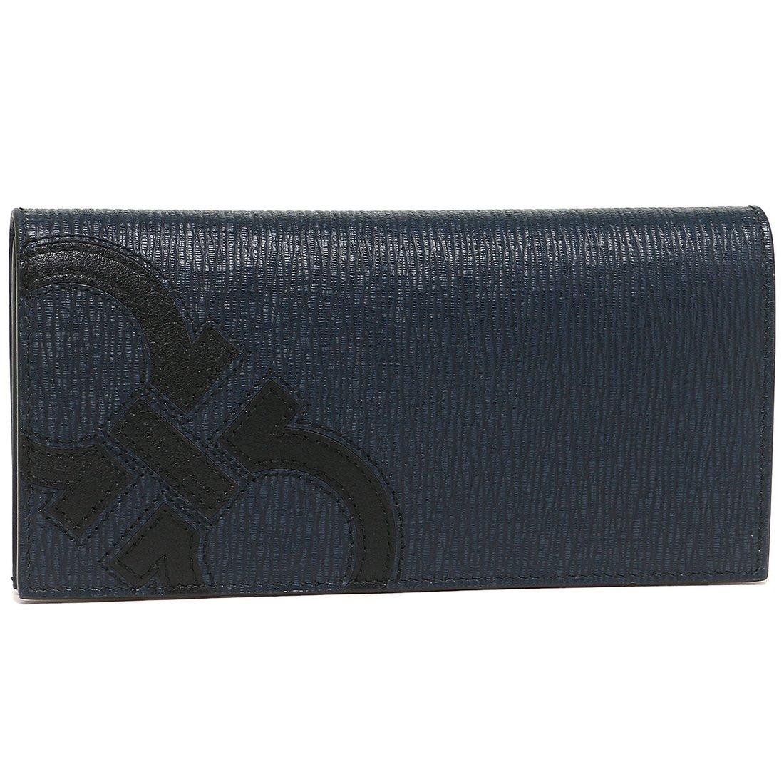 [フェラガモ] 長財布 メンズ Salvatore Ferragamo 66A281 0698826 ブルー [並行輸入品] B07F1K3YGQ