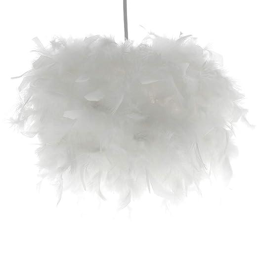 INNOTECK - Lámpara de techo hecha a mano con plumas, color ...