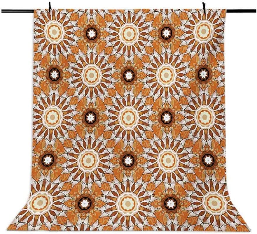 Tan and Brown 6.5x10 FT Photo Backdrops,Artistic Classical Flowers Pattern with Baroque Style Details and Retro Look Background for Baby Shower Bridal Wedding Studio Photography Pictures Multicolor